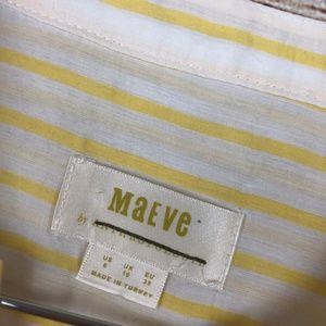 Anthropologie Tops - Anthro MAEVE yellow striped top // T07